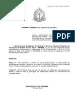 07- Portaria ARTESP e Anexo - Dispositivos de Contenção Viária - Projetos e Aplicações Nos Contratos de Concessões Rodoviárias