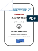 Quantitative Methods for Economic Analysis 6nov2014