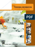 FTC Protecting Personal Information Guide for Business