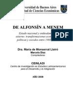 De Alfonsin a Menem