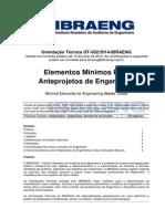 OT-002-2014-IBRAENG Elementos Mínimos Para Anteprojetos de Engenharia Versão Em Consulta Pública