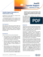 Seadrill Topside Support Newsletter May 2014 on Tuberculosis on Rig