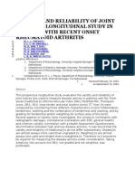 Validity and Reliability of Joint Indices