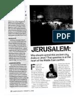 jerusalem a divided city