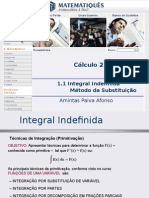Cálculo Diferencial e Integral 2 Unidade 01.1- Integral Indefinida- Método Da Substituição