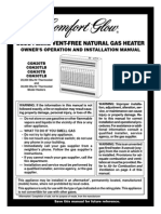 Comfort Glow Vent-Free Heater Manual