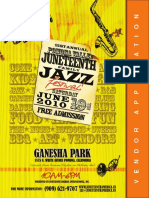 Vendor Package - Pomona Valley Juneteenth Jazz & Arts Festival 2010