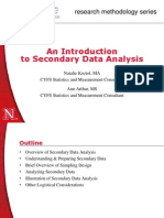 An Introduction to Secondary Data Analysis