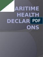 Maritime Health Declarations 121333
