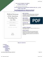 Political Sermons