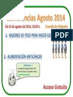 Anuncio Conferencias Agosto 2014