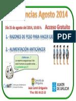 Anuncio Conferencias Agosto 2014 Ver. II