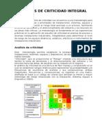 Analisis de Criticidad Integral en Equipos Electricos