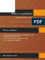 What is a Syllabus