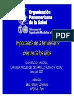 Importancia de la familia en la crianza de los hijos