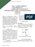 Lab 1 Electronica II Amplificador clase A con L de choque