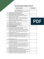 Checklist Penatalaksanaan Insersi Implan