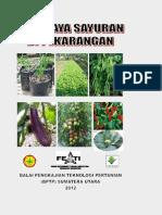 Budidaya Sayuran Di Pekarangan,Brosur Buku