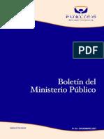 Boletin Ministerio Público chileno.