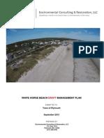 White Horse Beach Management Plan Draft of September 1, 2015