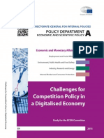 Challenges for Competition Policy in a Digitalised Economy