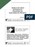 MODELO DE CINCO ESTÁGIOS DO PROCESSO DE QUALIDADE DO PROJETO