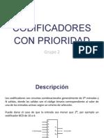 Codificador Con Prioridad y Descripción en VHDL
