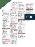 Physical Exam Checklist