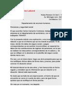 Carta de Reclamo Laboral