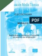 MANTENIMIENTO PREVENTIVO Y CORRECTIVO A SISTEMAS DE REFRIGERACION