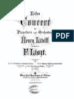 Liszt - S650 Piano Concerto No1