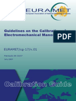 EURAMET Cg 17.01 Electromechanical Manometers