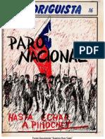 EL RODRIGUISTA (FPMR-PC) N° 16 [1986, Junio-Marzo]