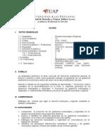 Syllabus Derecho Municipal y Regional Derecho Uap