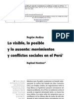Hoetmer, Raphael.movimientos y Conflictos Sociales en El Perú