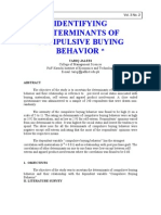 Identifying Determinants of Impuslive Buying Behavior
