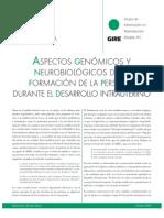 Aspectos Genómicos y Neurobiológicos de la Formación de la Persona Durante el Desarrollo Intrauterino