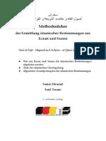 Methodenlehre der Ermittlung islamischer Bestimmungen aus Koran und Sunna