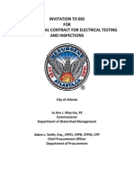 FC-7093, Annual Contract for Electrical Testing & Inspections