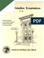 Indicador Mensual de Actividad Económica Imacec Base 1986