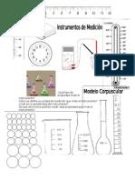 Instrumento de Medida y Modelo Corpuscular