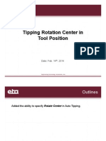 Tipping Rotation Center in Tool Position
