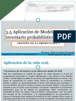 5.5 Aplicacion de Modelos de Inventarios Probabilisticos