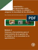 Capacitacion Aseguramiento de Calidad e Inocuidad de Alimentos Pequeñas y Medianas Industrias
