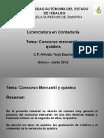 Concurso Mercantil y Quiebra