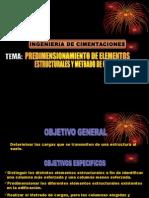 Presimensionamiento de elementos estructurales