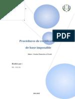 Procedure de Rectification Des Bases Imposables Rectifié (1)