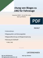 Aufbereitung Von Biogas Zu CNG LNG Für Fahrzeuge