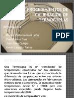Procedimientos de Calibracion de Termocuplas