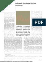 Noninvasive Hemodynamic Monitoring Devices